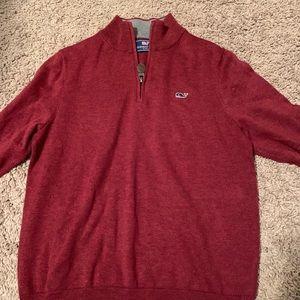 Vineyard Vines Boys Quarter Zip Sweater Size S